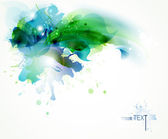 Fondo abstracto con manchas azules y verdes — Vector de stock