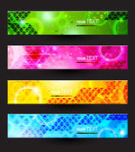 Headers set of four color banners of the abstract — Stock Vector