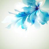 Fondo tierno con flor azul resumen — Vector de stock