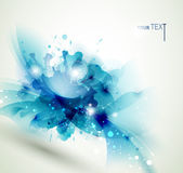 Abstract bluе flowere for design — Vettoriale Stock