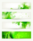 Set of four banners, abstract — Stock Vector