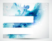 Set of three banners, abstract headers with blue blots — Stock Vector