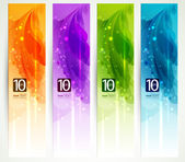 Set of four banners, abstract headers — Stock Vector