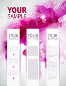 Brochure background with Abstract magenta elements — Stock Vector