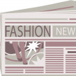 Stock Vector: Fashion Newspaper