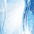 Blue shiny christmas background — Stock Vector #11948980