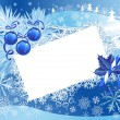 Blue snowy christmas background — Vector de stock
