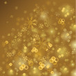 Gold shiny Christmas background — Stock Vector #11949107