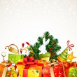 A lot of Christmas presents - Stockvectorbeeld