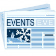 Stock Vector: Chronicle of last festive events is in newspaper