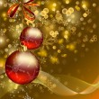 Christmas background with two evening balls - Imagen vectorial