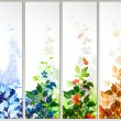 Raster version of Set of four season banners — Stock Vector #11949974