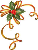 Nice christmas holly tree — Stock Vector