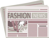 Fashion Newspaper — Stock Vector