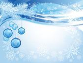 Modré skleněné vánoční koule — Stock vektor
