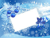 Blue snowy christmas background — Stock Vector