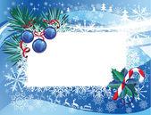 Новогодний фон с визитная карточка — Cтоковый вектор