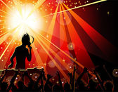 Dancing young in the nightclub — Stock Vector