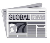 Newspaper of global news — Stock Vector