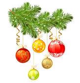Izolované vánoční větev jedle — Stock vektor