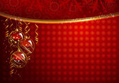 Telón de fondo de navidad rojo — Vector de stock