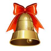 Decoración de la navidad con el timbre — Vector de stock