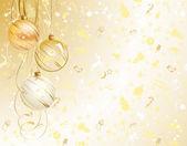 Good-looking Christmas backdrop with three balls — Stock Vector