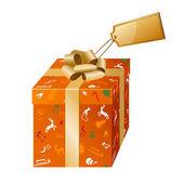 Noel kartı hediye kutusu — Stok Vektör