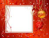 Shiny Christmas backdrop with three balls — Stock Vector