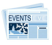 A chronicle of the last festive events is in a newspaper — Stock Vector