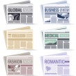Royalty-Free Stock Vector Image: Newspaper  icon set
