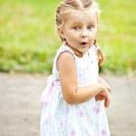 Portrait of emotionally little girl — Stock Photo