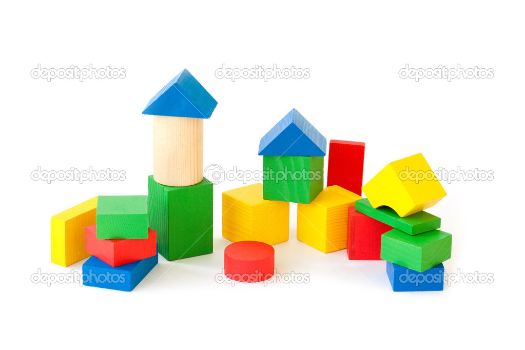 Wooden building blocks — Stock Photo #12365642