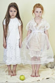 Two girls like angels — Stock Photo