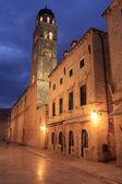 Oude stad bij nacht, dubrovnik, kroatië — Stockfoto