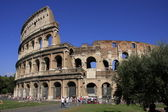 Colosseum of Rome with blue sky, Italy — Stock Photo