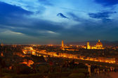 Night Florence view — Stock Photo