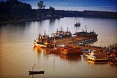 Sunset Boats — Stock Photo