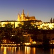 The Prague Castle at night — Stock Photo