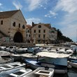 Hvar harbor, Croatia - Stock Photo