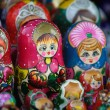 Matrioshka, russian set of dolls — Stock Photo