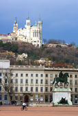 The Bellecour square in Lyon. — Stock Photo