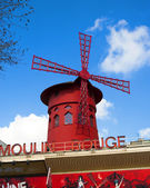 The Building of the famous Moulin rouge theater — Stock Photo