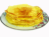 Blintzes (cheese pancakes) on the plate close up — Stock Photo