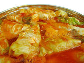 Stuffed cabbage close-up — Stock Photo