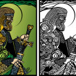 Perun god of thunder — Stock Vector #11783498