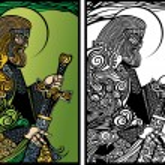 Perun god of thunder — Stock Vector