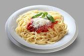 Plaat italiaanse spaghetti — Stockfoto