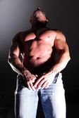 Pectoral muscular man — Stock Photo