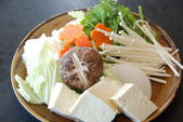 Vegetables for Shabu Shabu at Hana Japan restaurant — Stock Photo